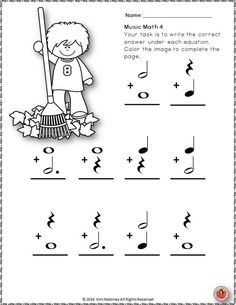 1st/2nd grade rhythm practice worksheet. Good for centers