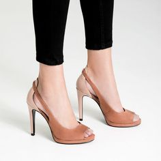 Image 2 of CONTRAST PEEP TOE SHOES from Zara