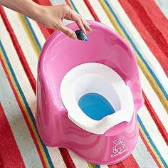 Potty Training Tips- Dye the toilet water with red or blue food coloring -- when he goes potty it will change color to orange or green, turning potty training into a game.WHAT A GREAT IDEA!      -Ashley