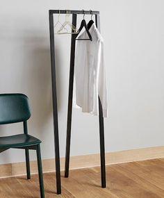 TRIANGLE LEG BENCH - HAY Hall Furniture, Wardrobe Furniture, Hay Design, Design Ideas, Wardrobe Solutions, Simple Wardrobe, Wardrobe Ideas, Loft, Coat Stands