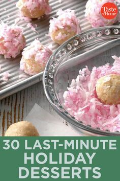 30 Last-Minute Holiday Desserts Pecan Cookies, Peanut Butter Cookies, No Bake Cookies, Chocolate Chip Cookies, Chocolate Malt, Chocolate Dipped, Holiday Desserts, Holiday Recipes, Malted Milk