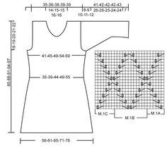 """DROPS Tuniek/jurkje met ajourmotief van """"Bomull-Lin"""" en """"Cotton Viscose"""". Maat XS t/m XL. DROPS Collier van """"Cotton Viscose"""". ~ DROPS Design"""