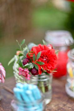 Flowers in a jam jar | Pauline F. Photography