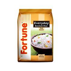 Price Rs.326/- Buy #Fortune Everyday Raw Full Grain #Basmati #Rice(5kg) Online in Delhi, Noida, Ghaziabad, NCR