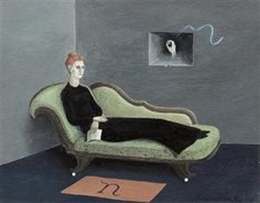 Countess Narone on Chaise By Gertrude Abercrombie ,1953