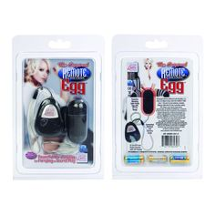 Original Remote Control Egg Vibrator Black SE008003. The best just got better! Satin Finish, whisper quiet, discreet, powerful remote control vibrating egg. Perfect for secret play, foreplay, with or without a partner. Easy to use remote control with LED light. 23 foot range. Handy retrieval cord. ABS plastic with Satin Finish Polyurethane PU Cote. Batteries included: ...