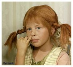 fotos Pippi Longstocking is a beloved characte - Pippi Longstocking, Comedy Tv, Cinema, Freckles, Role Models, Make Me Smile, Redheads, Red Hair, Childhood Memories