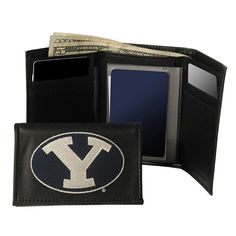 Brigham Young University Cougars Trifold Leather Wallet, Men's, Multicolor