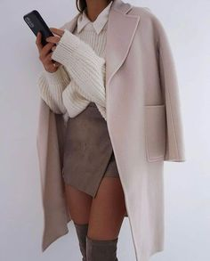 Winter Fashion Outfits, Look Fashion, Fall Outfits, Womens Fashion, Business Casual Outfits, Cute Casual Outfits, Stylish Outfits, Tailored Coat, Elegantes Outfit