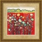 """Growing in Red"" by Jennifer Lommers: Fine Art by Northwest Artist Jennifer Lommers: From my 'Growing in the Valley' series inspired by the farmlands of the beautiful Skagit Valley, WA. I hope you enjoy!The original artwork is size 48 ..."