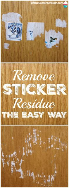 Do you kids put stickers everywhere? Find out an easy way to remove sticker…