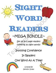 Sight Word Readers- MEGA BUNDLE- 29 Books Total! from Teachers Treasure Chest on TeachersNotebook.com -  (90 pages)  - If you are teaching emergent readers how to read and write sight words with fluency- this pack is a must-have for you...and your students!
