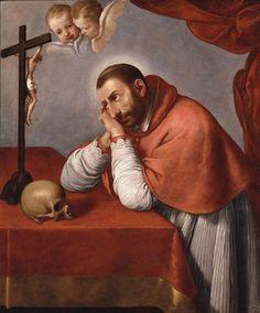 ) - San Carlo Borromeo in meditazione - 1670 circa - Accademia… Saint Charles Borromeo, Milan, Italian Artist, Baroque, Saints, Carrara, 18th, Angels, Inspiration