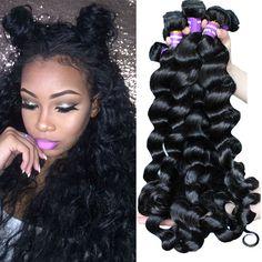 4 bó brazil loose sóng trinh tóc 7a brazil tóc weave gói quăn weave nhân tóc honey queen tóc sản phẩm