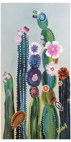colorful cactus of Felisha Hoover 75 shipping available colorful kakteen The colorful cactus of Felisha Hoover 75 shipping available colorful kakteen The colorful. Cactus Drawing, Cactus Painting, Cactus Art, Cactus Plants, Indoor Cactus, Cactus Decor, Cactus Flower, Rooster Painting, Mini Cactus