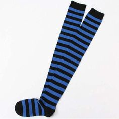 Over Knee Long Stripe Thigh High Patterned Socks