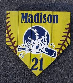 40% OFF SALE Personalized Softball Player Home-base, Baseball Plate Sign