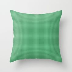 Green Grid - Pattern Throw Pillow
