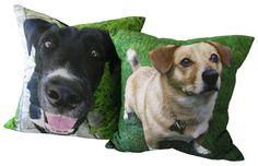 Dog Photo Pillow - Customized Pillow - Pet Photo Pillow -. $39.00, via Etsy.