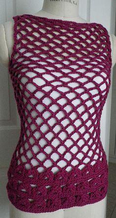 knit (crochet) mesh tunic