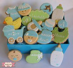 galletas decoradas de bebe. Baby cookies