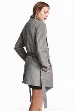 Krótki płaszcz - Ciemnoszary - ONA | H&M PL 1