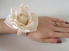 Pearl themed corsage