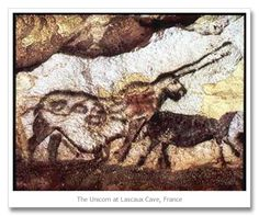 "The Unicorn at the Lascaux Cave has over 2000 figures depicted on the walls, 900 of those being various breeds of animals. The most famous section of the animal paintings is the ""Great Hall of Bulls"", where stags, equines, and bulls are depicted. One of the bulls is 18 feet long, making it the largest cave art representation of an"