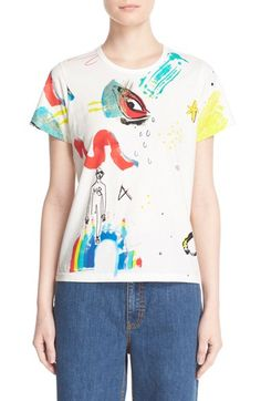 MARC JACOBS Collage Print Cotton Tee. #marcjacobs #cloth #
