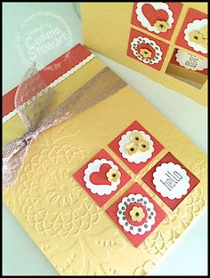 Flash Card 2.0 - Four Square Card - Created by Connie Stewart - www.SimplySimpleStamping.com - blog post July 27, 2015