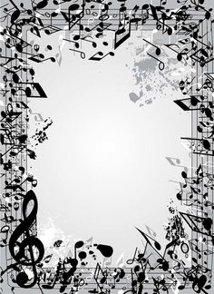 MUSIC NOTE frame Digital Clipart Musical Accent by vector76 Music Border, Cute Captions, Samsung Galaxy Wallpaper, Guitar Photography, Music Drawings, Silhouette Clip Art, Music Backgrounds, Chroma Key, Creation Deco