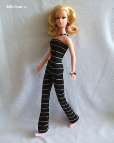 * JUMP INTO SPRING * - handmade Jumpsuit and Jewelry Set for Francie doll. on eBay: $15.00 - by DOLLS4EMMA~Cool