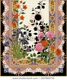 Digital textile deaign flowers leaves Textile Patterns, Textile Prints, Textile Design, Textile Art, Flower Branch, Flower Art, Kashida Embroidery, Eyeliner Shapes, Digital Texture