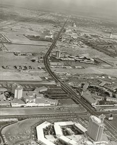 Aerial view of Las Vegas Strip c. 1967-1968.