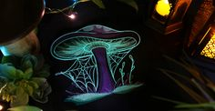 Urban Threads: The Enchanted Garden Embroidery Collection - craft an ethereal effect with glow in the dark threads!