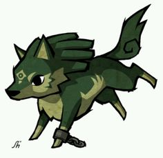 Wolf Link! Wind waker style