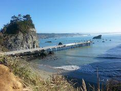 The pier at Trinidad Harbor. Trinidad California.