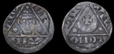 John (as King), Third coinage, Halfpenny, Limerick, Willem, willem on lime, 0.66g/9h (S 6232; DF 51). Good fine, rare