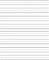 Children learning to print or write cursive can use this dashed ...