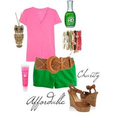 pink/green..summer..shorts