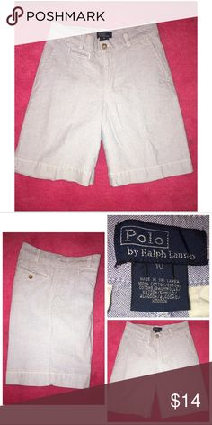 Ralph Lauren Boy's Shorts Pre-loved Ralph Lauren Cotton Shorts  Size 10  Cotton   Light Blue  EUC. 51517P Ralph Lauren Bottoms