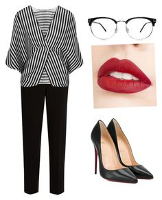 """""""Untitled #290"""" by irinabukhinnyk on Polyvore featuring The Row, Etro, Jouer and Christian Louboutin"""