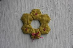 wreath ornament from hexies