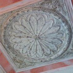 Ceiling medallion w/ faux marble painting by Susan Fenich