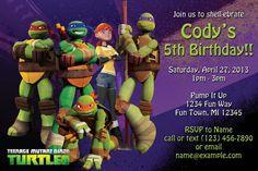 36 best ninja turtles party images on pinterest ninja turtle party printable teenage mutant ninja turtles birthday invitation nickelodeon filmwisefo