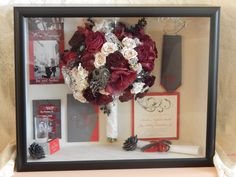 All your wedding memories in one Shadow Box with your preserved bouquet. www.forgetmenevers.com