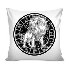 LEO Zodiac Pillow Cover White Perfect Gift by ProsperousJewels