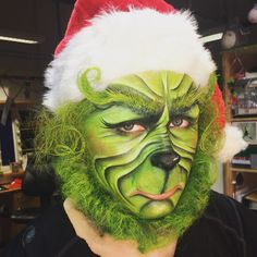 Today's Grinch Make Up. copyright: Craig Forrest MUA #makeup #makeupartist #prosthetics #moulding #sculpting #grinch #thegrinch #christmas #festive