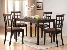 5 Pc Espresso Wood Dining Set Table Chairs Cross Back Microfiber Unique Espresso Dining Room Table Sets Inspiration