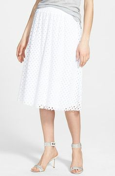 white eyelet midi skirt {40% now during Nordstrom's Half Yearly Sale!!}